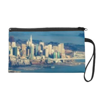 Aerial photograph of the San Francisco Bay Wristlet Purse