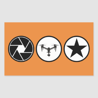 Aerial Photographer DJI Inspire Rectangular Sticker