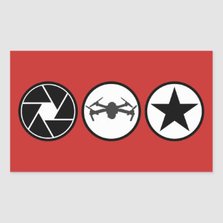 Aerial Photographer DJI Mavic USA Rectangular Sticker