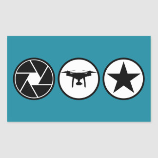 Aerial Photographer PHANTOM USA Rectangular Sticker
