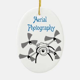 Aerial Photography Ceramic Oval Decoration