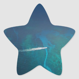 Aerial Photography of the Maldives Star Sticker