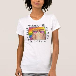 aerial rainbow winter woodland games 2014 tshirt