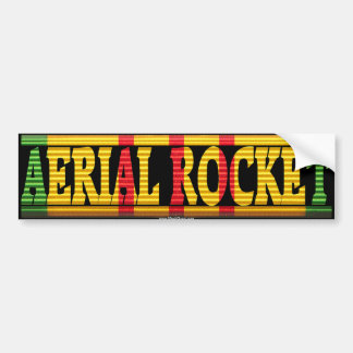 Aerial Rocket Vietnam Service Ribbon Sticker Bumper Sticker