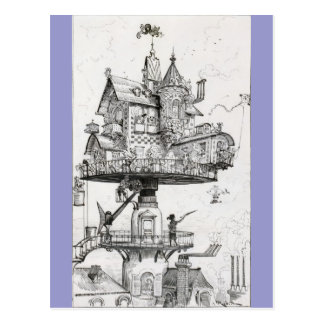 Aerial Rotating House Postcard