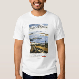 Aerial Scene of Town and Dock Railway Poster Tee Shirts