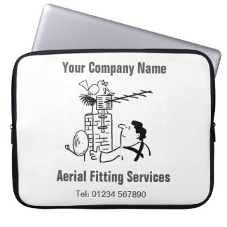 Aerial Services Cartoon Computer Sleeve