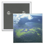 Aerial shot of Amazon forest 15 Cm Square Badge