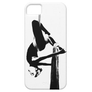 Aerial Silks Classic Black and White iPhone 5 Case