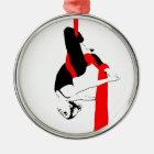 Aerial Silks Dancer Gemini Pose Christmas Ornament
