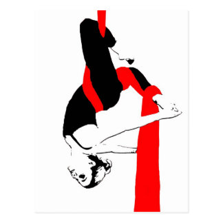 Aerial Silks Dancer Gemini Pose Postcard