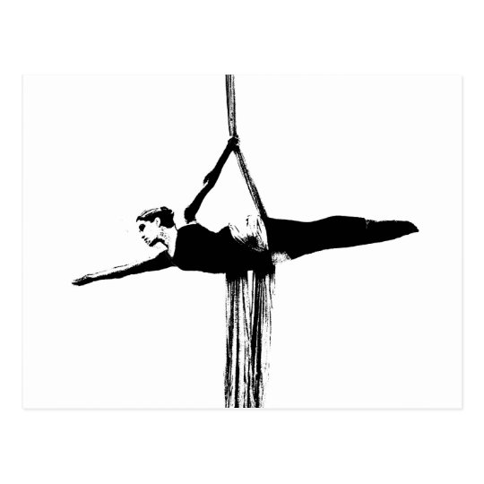 Aerial Silks Dancer Postcard