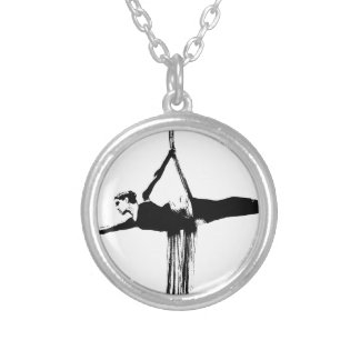 Aerial Silks Dancer Silver Plated Necklace