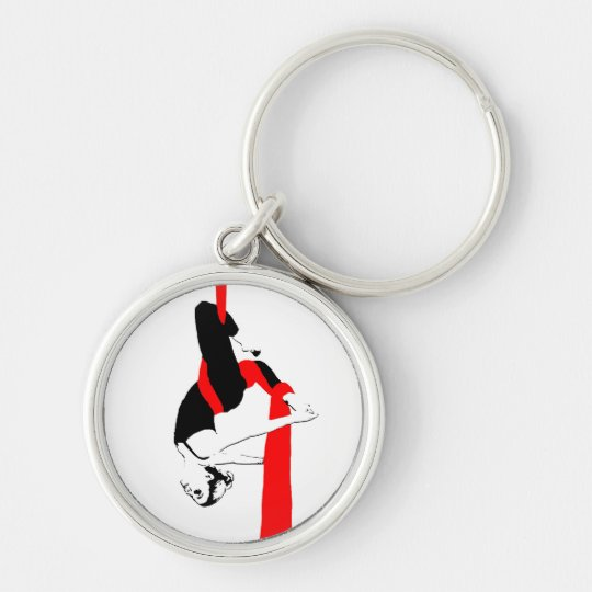 Aerial Silks Gemini Pose Keychain