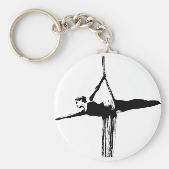 Aerial Silks Superman Pose Keychain