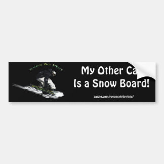 AERIAL SNOW BOARDER Series Bumper Sticker