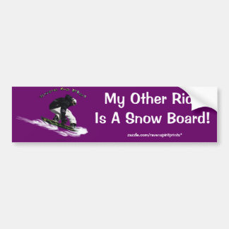 AERIAL SNOW BOARDER Series Bumper Stickers