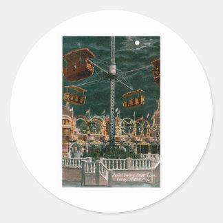 Aerial Swing, Coney Island Sticker