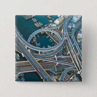 Aerial View 15 Cm Square Badge