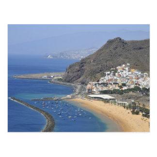 Aerial view a beach of Tenerife Postcard