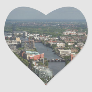 Aerial view Berlin with Spree River Germany Heart Sticker