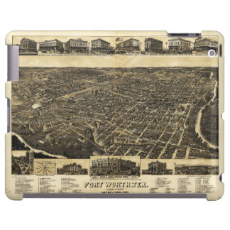 Aerial View Fort Worth Tarrant County Texas (1886) iPad Case