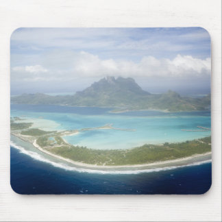 Aerial view from small commuter plane of Bora Mouse Mat