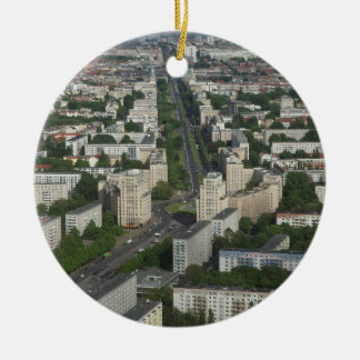 Aerial view Karl Marx Allee Berlin Germany Round Ceramic Decoration