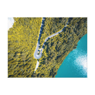 Aerial View Landscape | Road Canvas Print
