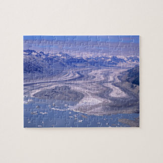 Aerial view Lowell Glacier, Kluane National Jigsaw Puzzle