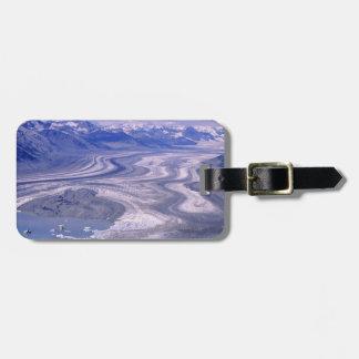 Aerial view Lowell Glacier, Kluane National Luggage Tag