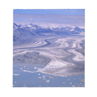 Aerial view Lowell Glacier, Kluane National Notepad