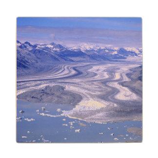 Aerial view Lowell Glacier, Kluane National Wood Coaster