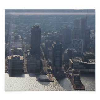 Aerial View New York Poster