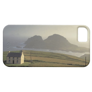 aerial view of a cottage on a hill by the sea barely there iPhone 5 case