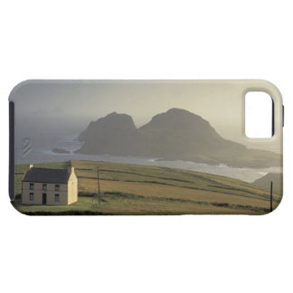 aerial view of a cottage on a hill by the sea iPhone 5 cover