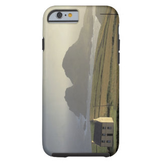 aerial view of a cottage on a hill by the sea tough iPhone 6 case