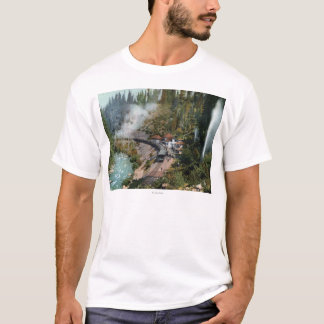 Aerial View of a Train Station T-Shirt