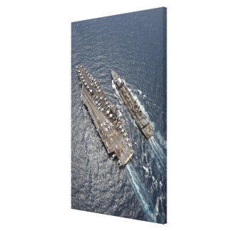 Aerial view of aircraft carrier USS Ronald Reag Canvas Print