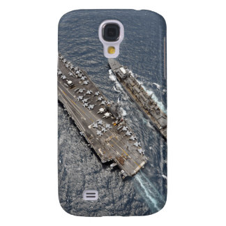 Aerial view of aircraft carrier USS Ronald Reag Samsung Galaxy S4 Cases