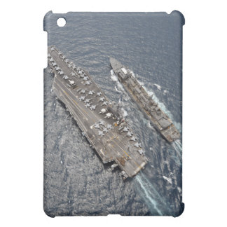 Aerial view of aircraft carrier USS Ronald Reag Cover For The iPad Mini