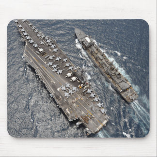 Aerial view of aircraft carrier USS Ronald Reag Mouse Mat