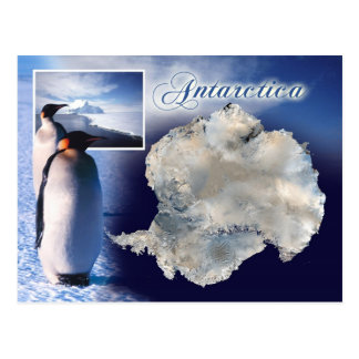 Aerial view of Antarctica Postcard