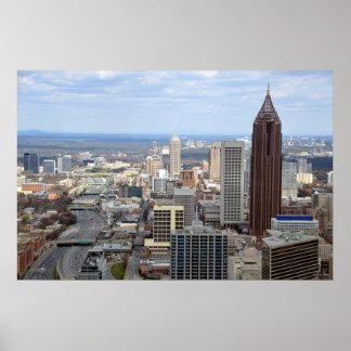 Aerial View of Atlanta, Georgia Poster