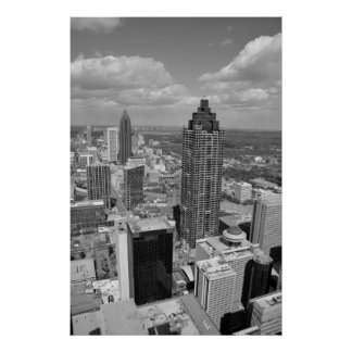 Aerial View of Atlanta, Georgia Poster