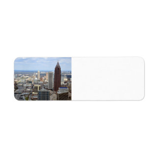 Aerial View of Atlanta, Georgia Return Address Label