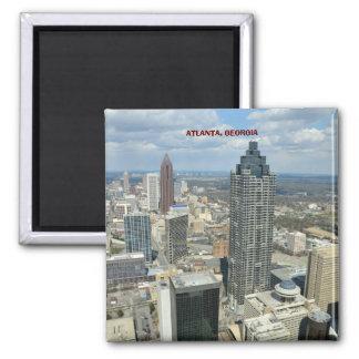 Aerial View of Atlanta, Georgia Square Magnet