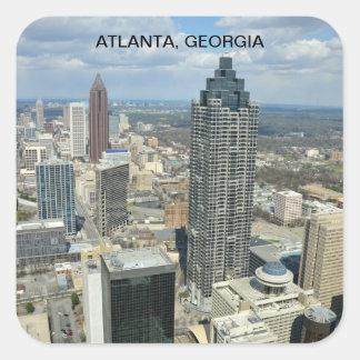 Aerial View of Atlanta, Georgia Square Sticker