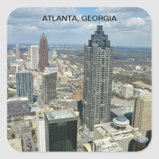 Aerial View of Atlanta Georgia Stickers