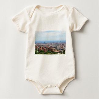 Aerial view of Barcelona, Spain Baby Bodysuit